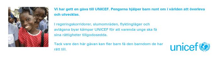 Unicef gåva