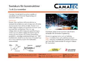 Svetskurs för konstruktöre. Camatec Västerås 2017.sida1