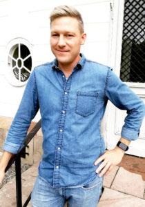 Nyrekryterad Björn Bergqvist. Camatec 2018. Konstruktör