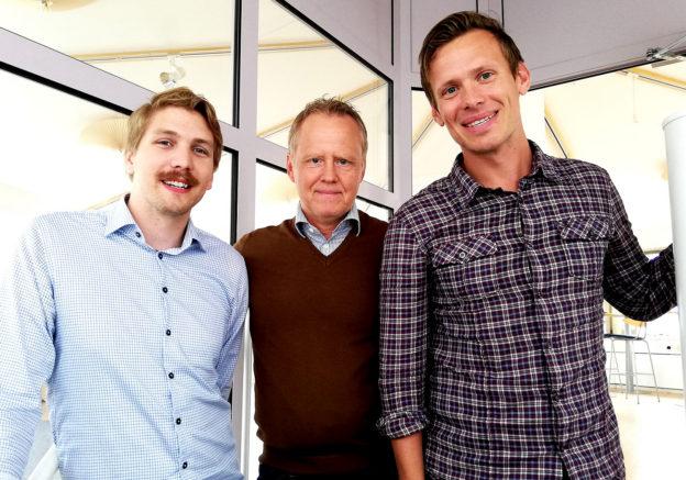 Herman Lundberg, Jörgen Hedgren och Michael Olofsson. Camatec